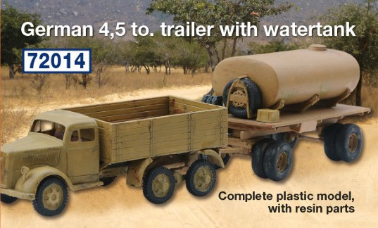 German 5 to. trailer with watertank